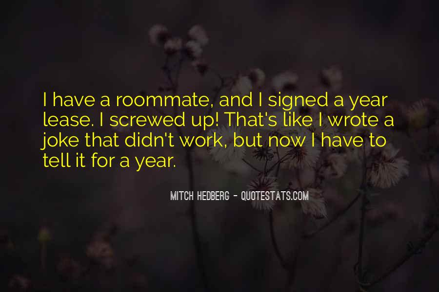Funny Bad Roommate Quotes #1099655