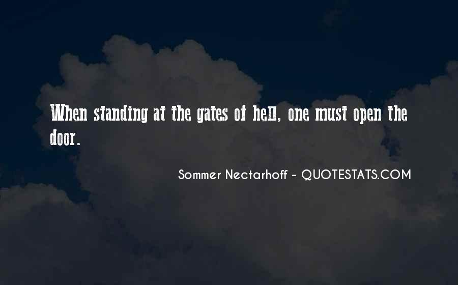 Quotes About The Gates Of Hell #1734524