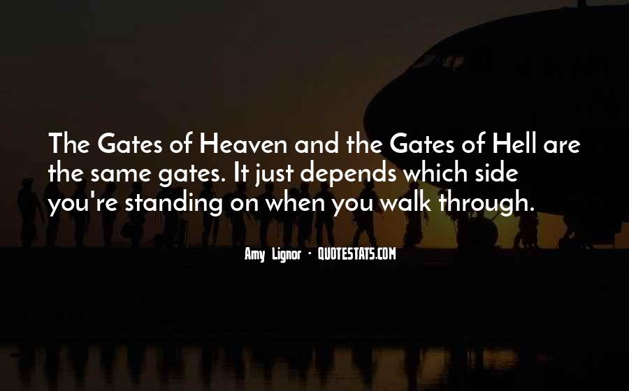 Quotes About The Gates Of Hell #469794