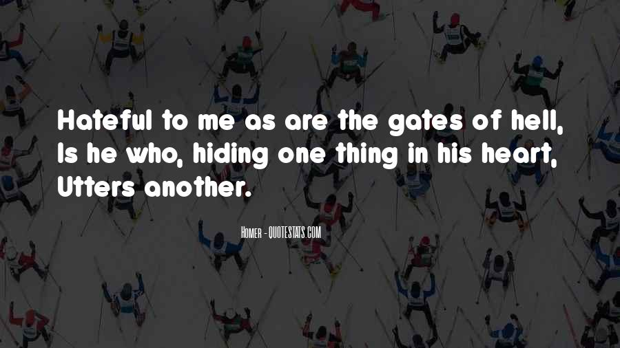 Quotes About The Gates Of Hell #811010