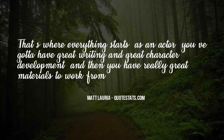 Quotes About Great Starts #1240284