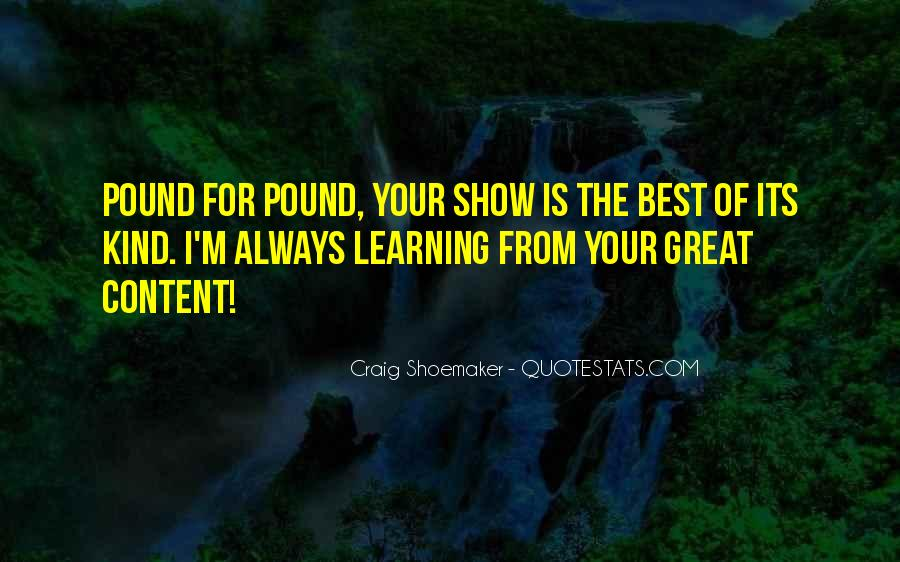 Quotes About Great Shows #713763