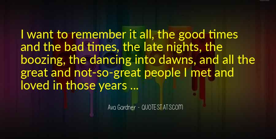 Quotes About Great Nights #46490