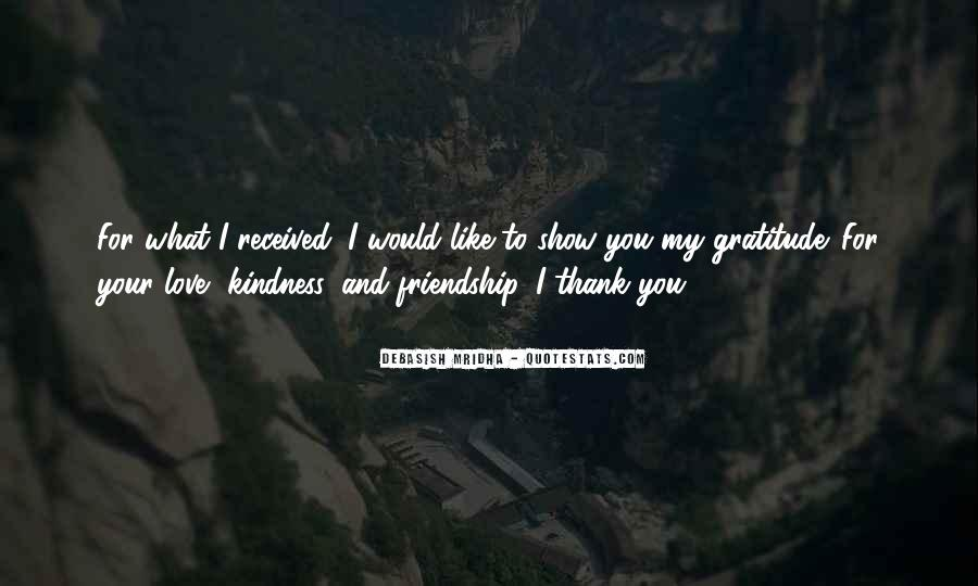 Quotes About Gratitude For Friendship #1554143