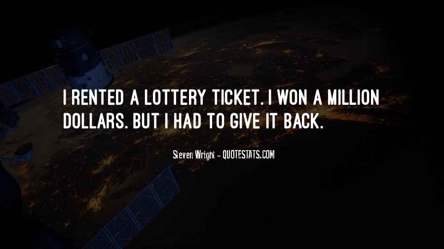 Funny Lottery Ticket Quotes #140056