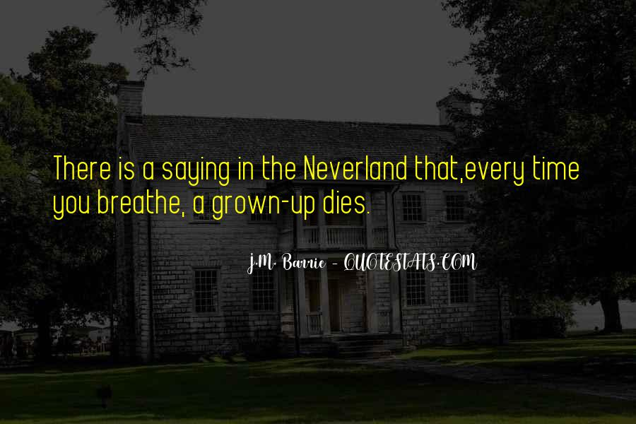 Quotes About Going To Neverland #156052