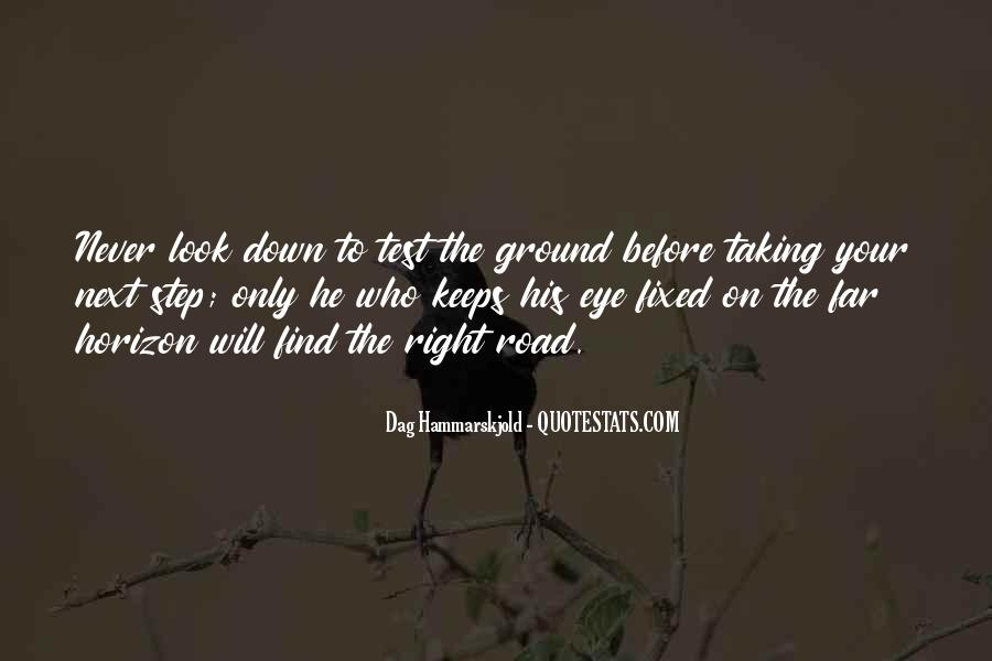 Quotes About Going Down The Right Road #325132