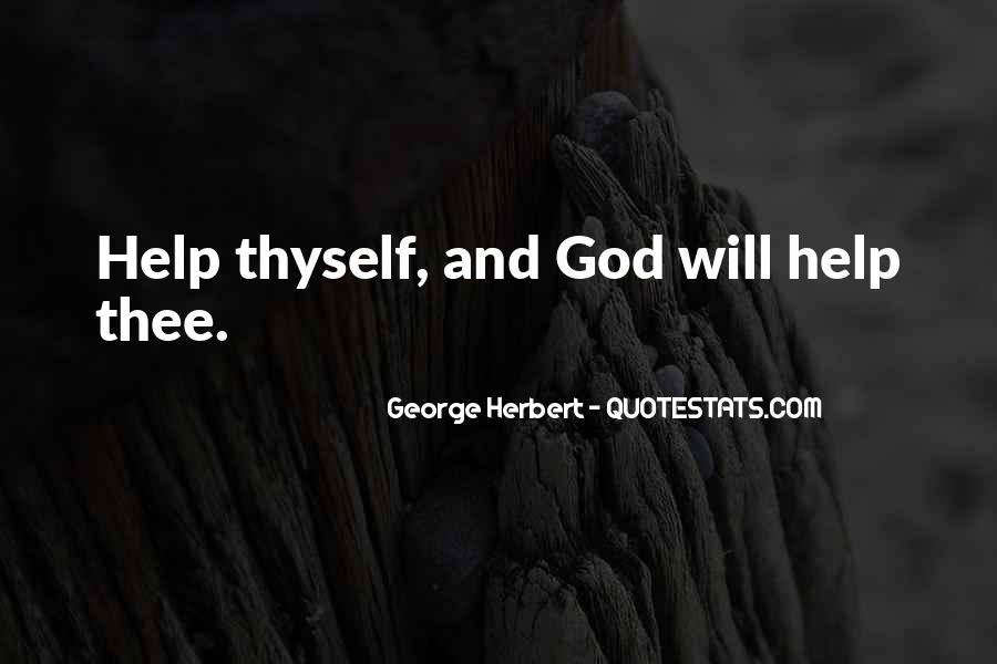 Quotes About Gods Help #1597042