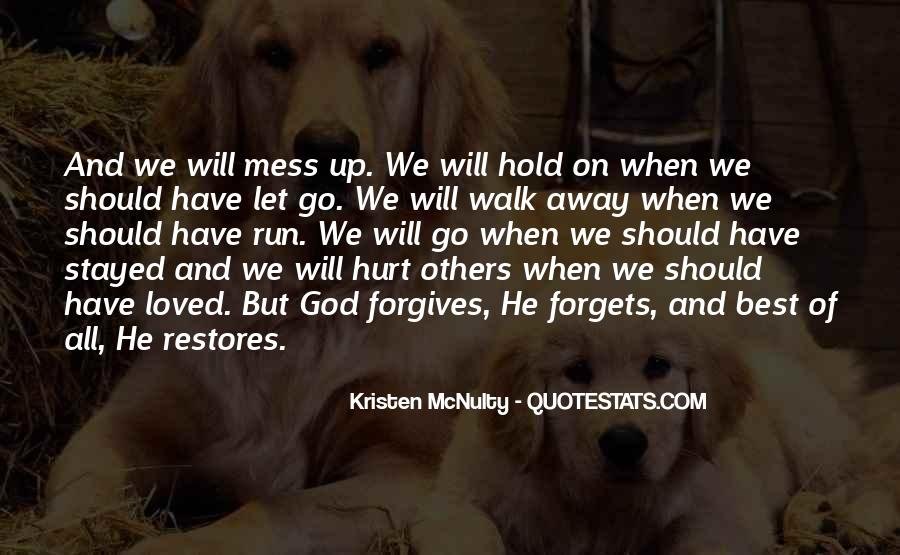 Quotes About God Forgives #1503800