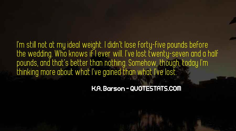 Gained Weight Quotes #671920