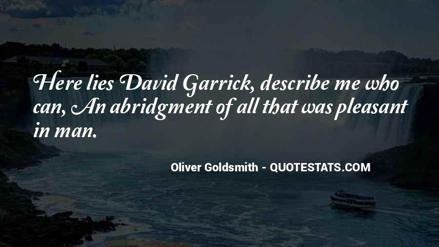 Garrick Quotes #49714