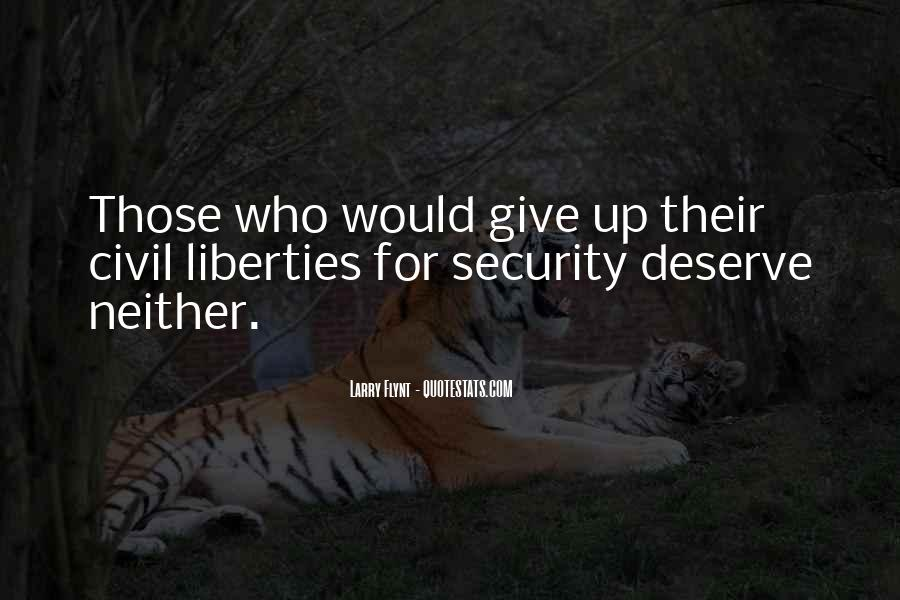 Quotes About Giving Up Liberties #1530347