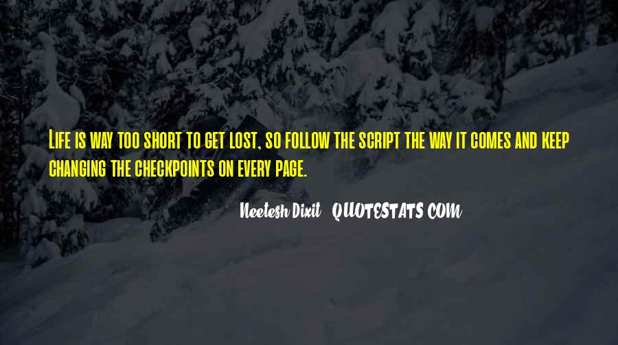 Get Lost Short Quotes #526859