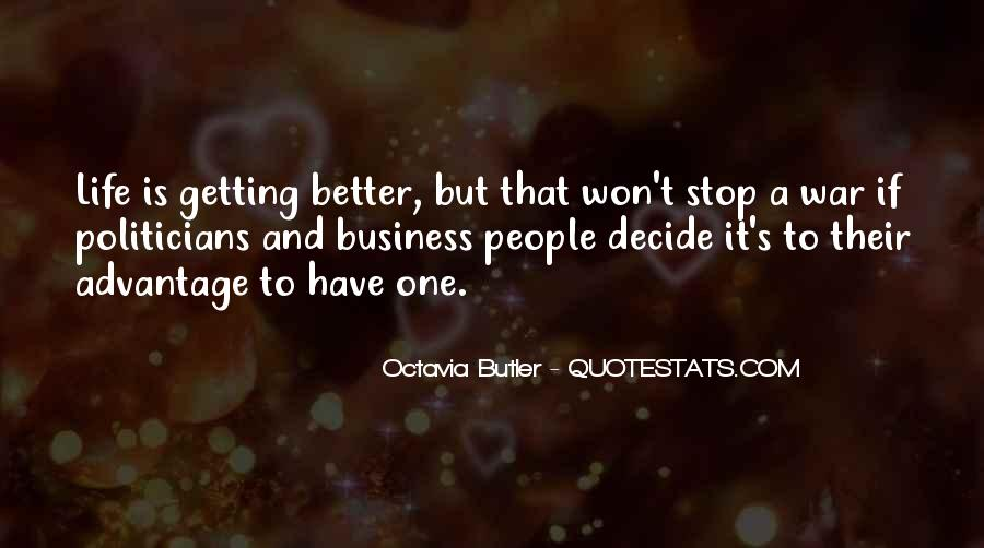 Getting Into People's Business Quotes #1801887