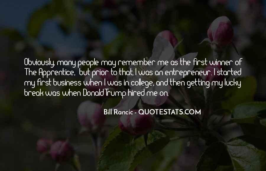 Getting Into People's Business Quotes #981605