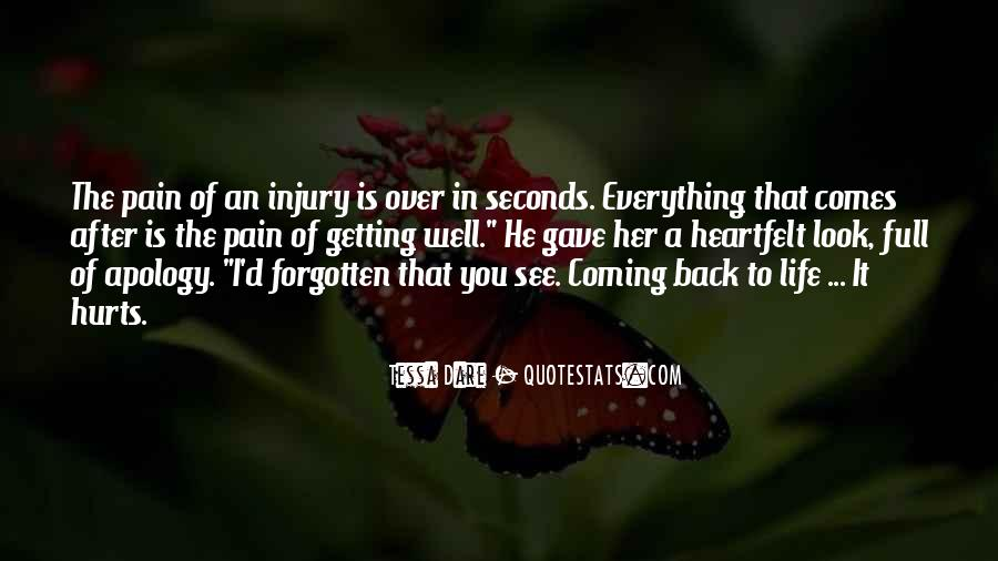 Getting Over Hurt Quotes #1766479
