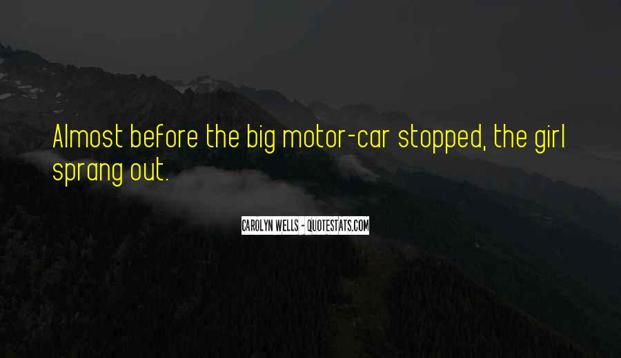 Girl And Her Car Quotes #1289545