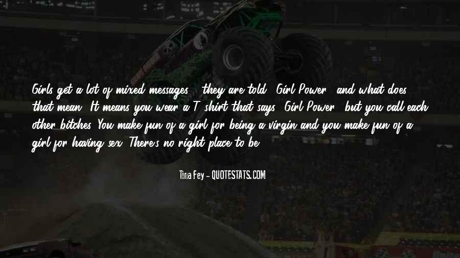 Girl Virgin Quotes #1424693