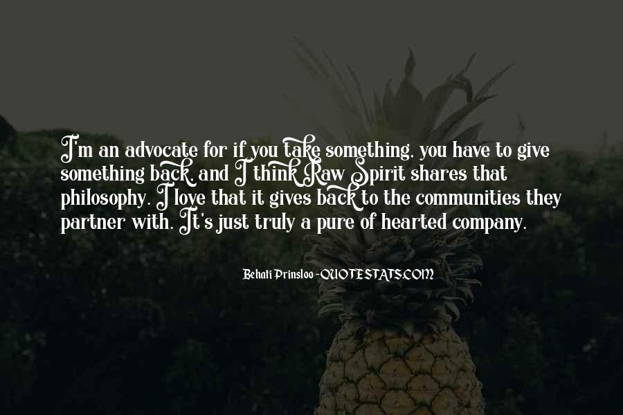 Gives Back Quotes #376868