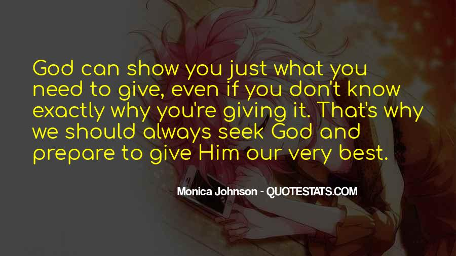 Giving Our Best To God Quotes #621186