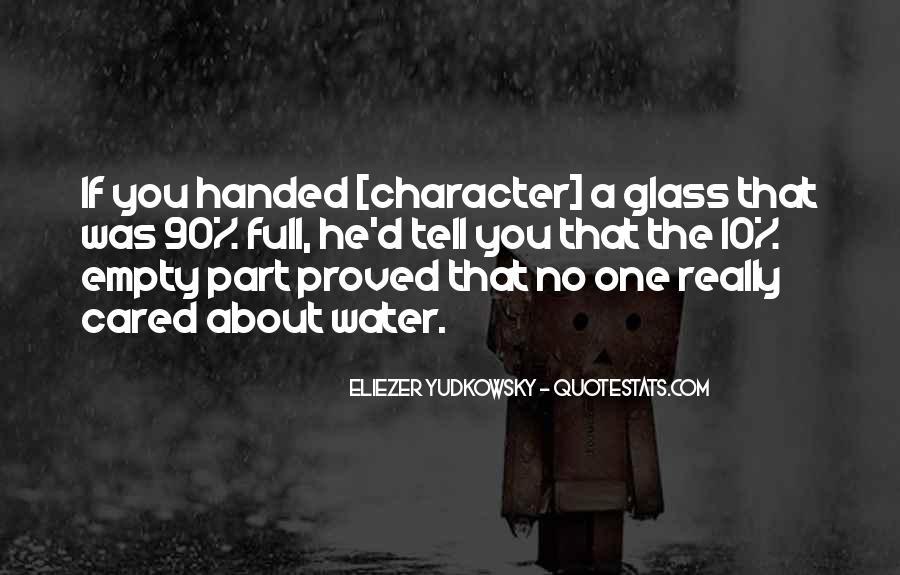 Glass Full Of Water Quotes #1219449