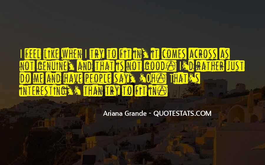 Quotes About Genuine People #662423