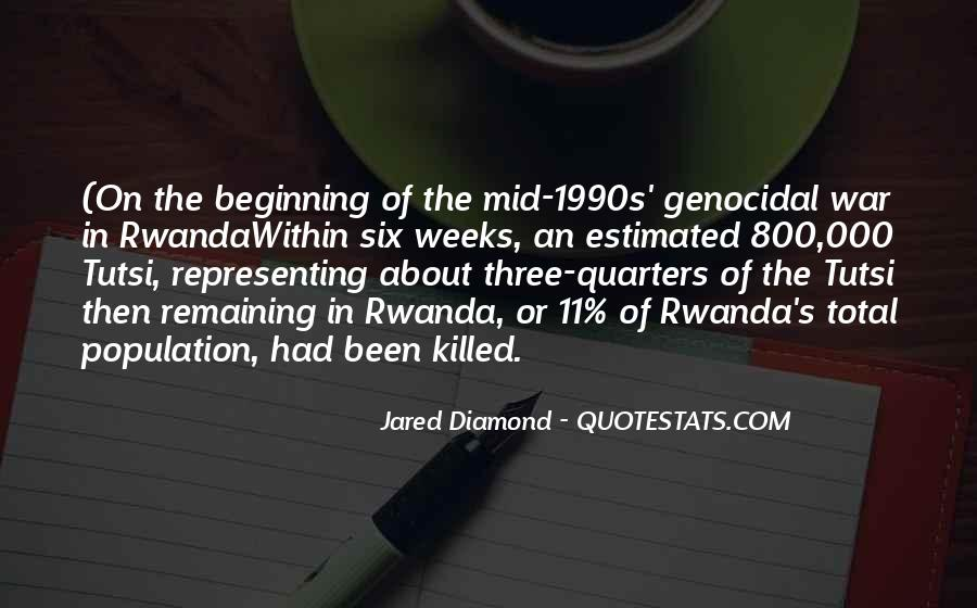 Quotes About Genocide In Africa #1218444