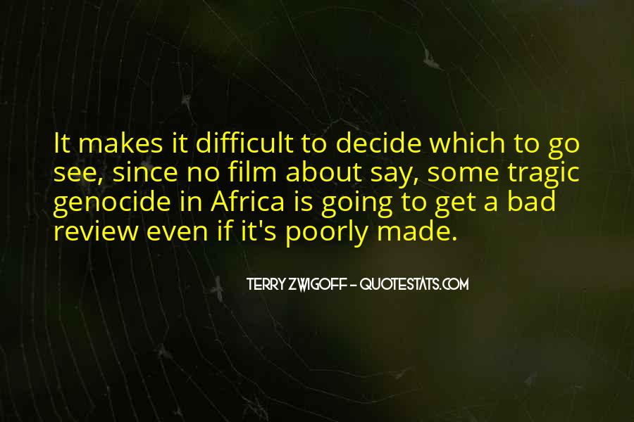 Quotes About Genocide In Africa #774167