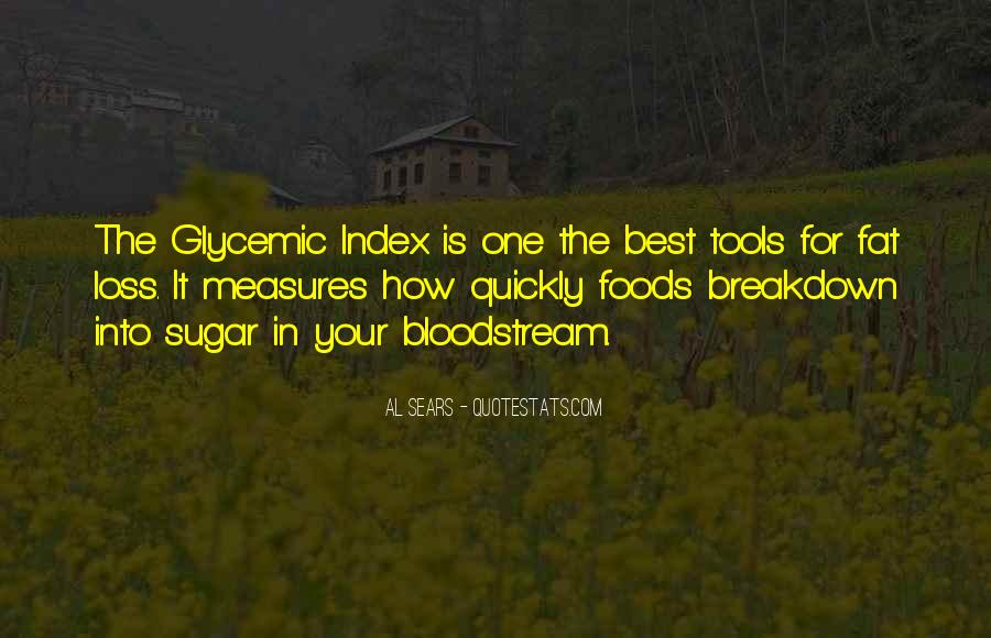 Glycemic Index Quotes #127895