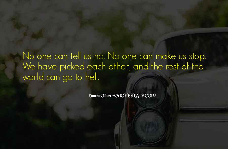 Go To Hell World Quotes #287644