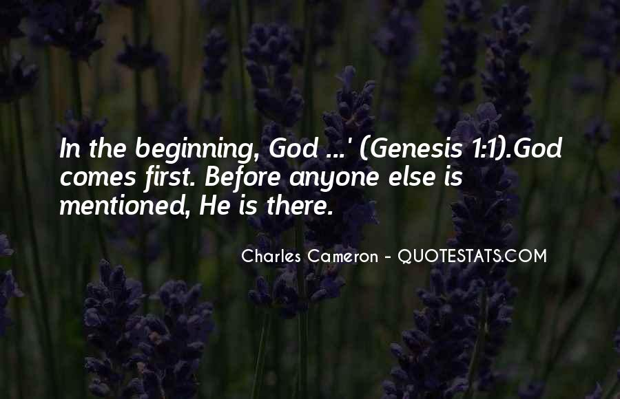 God Comes First Quotes #1719872