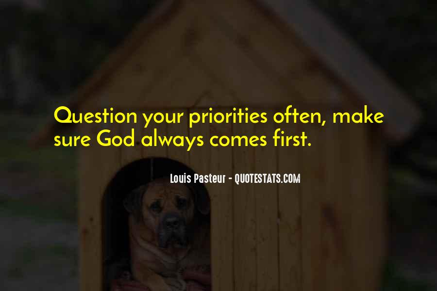 God Comes First Quotes #545179
