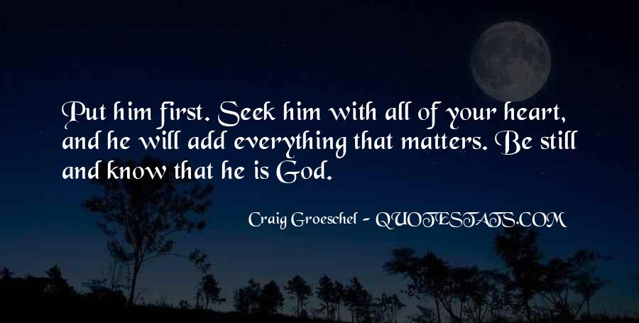 God Comes First Quotes #56214