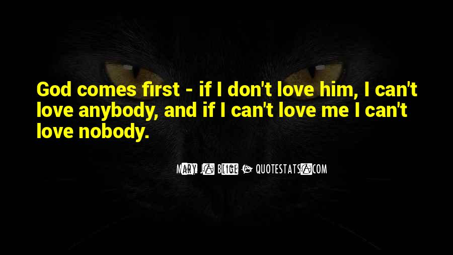 God Comes First Quotes #985933