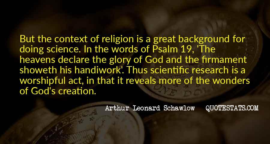 God Handiwork Quotes #1048276