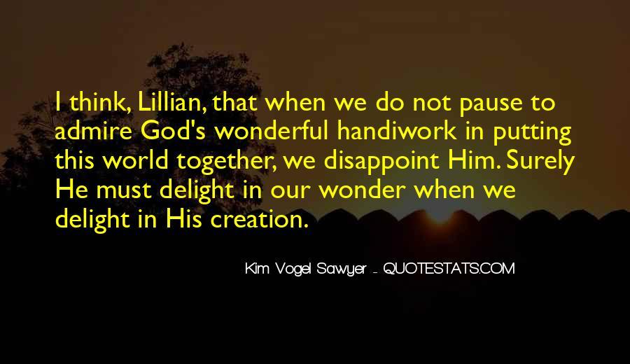 God Handiwork Quotes #1107126