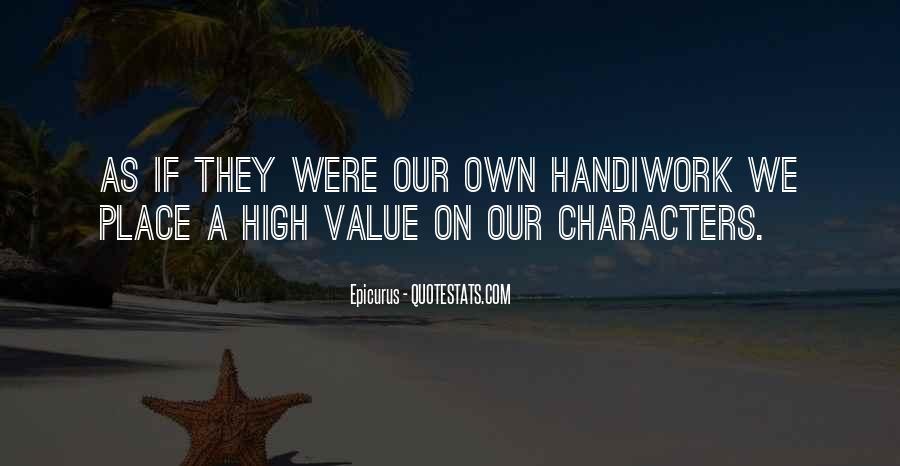 God Handiwork Quotes #537505