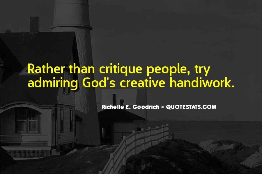 God Handiwork Quotes #761684