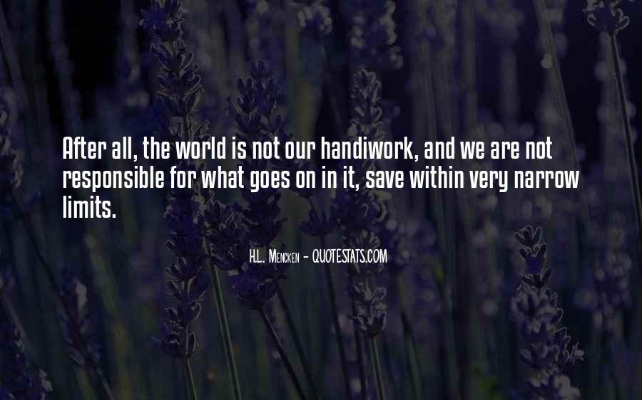 God Handiwork Quotes #795751