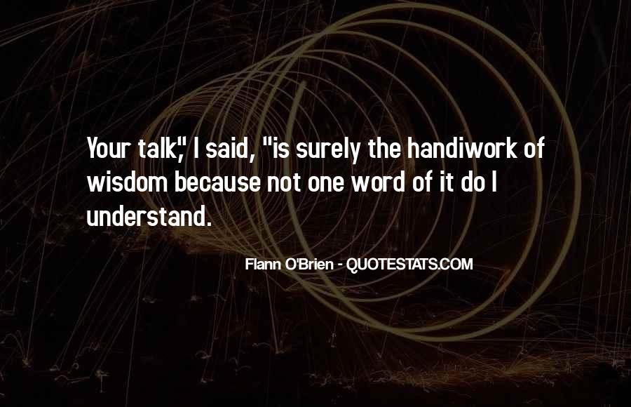 God Handiwork Quotes #817551