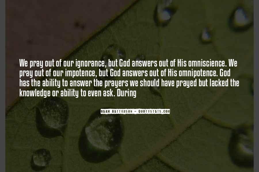 God Has The Answer Quotes #210071