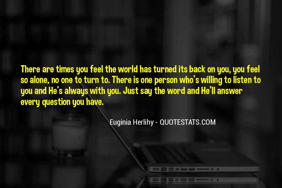 God Has The Answer Quotes #358966
