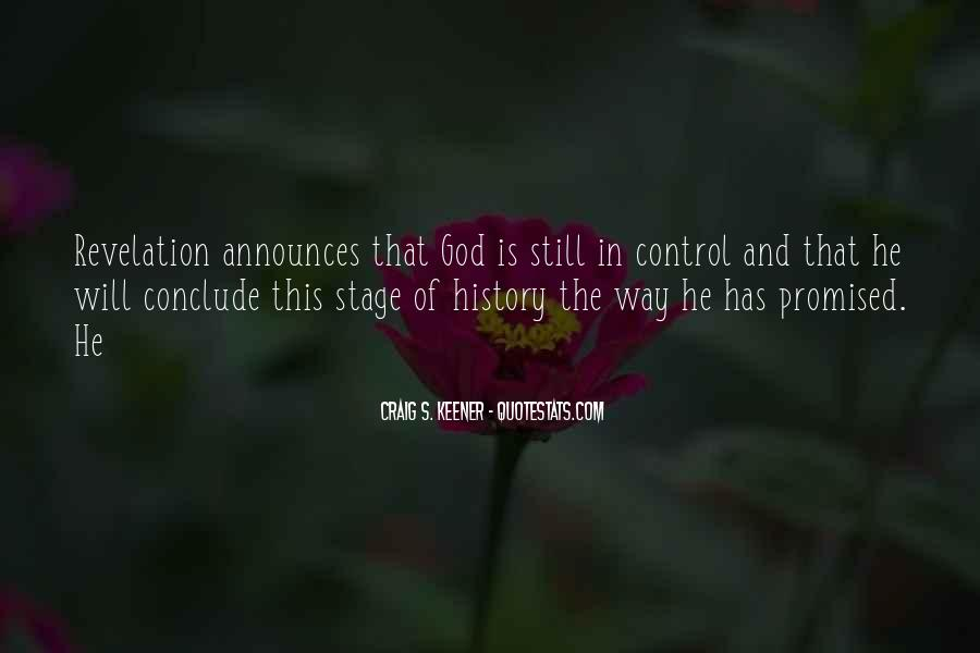 God In Control Quotes #54202