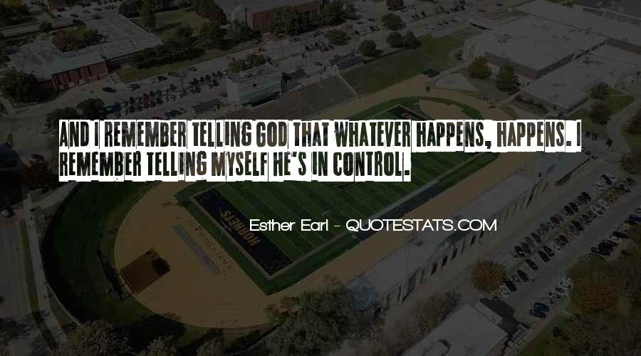 God In Control Quotes #75544