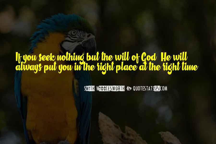 God Is Always Right On Time Quotes #561950