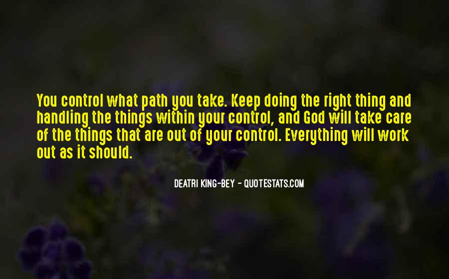 God Is In Control Of Everything Quotes #1070359