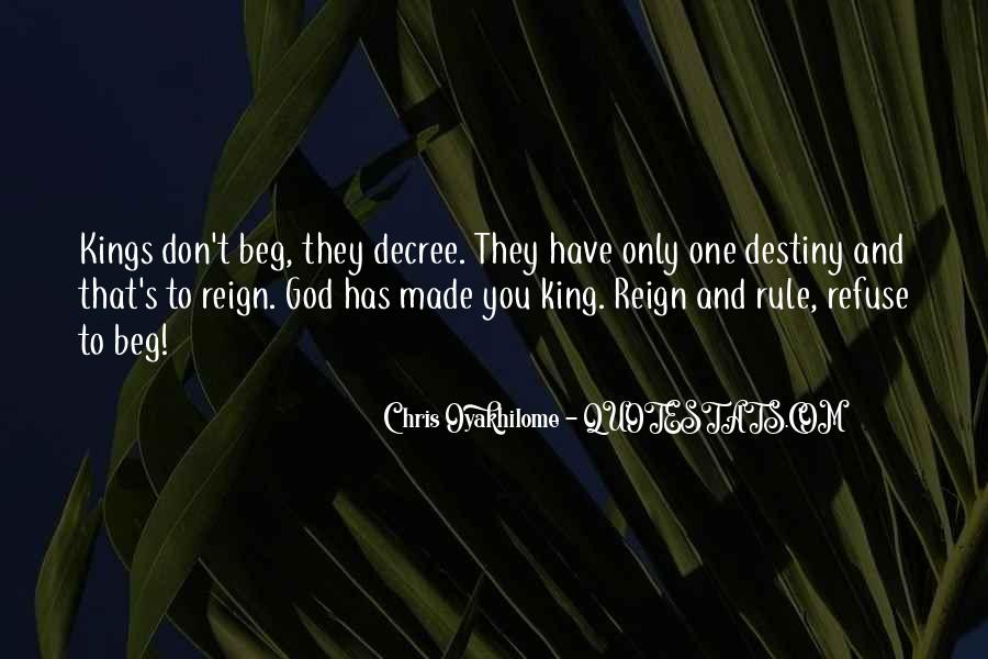 God Is My King Quotes #134560