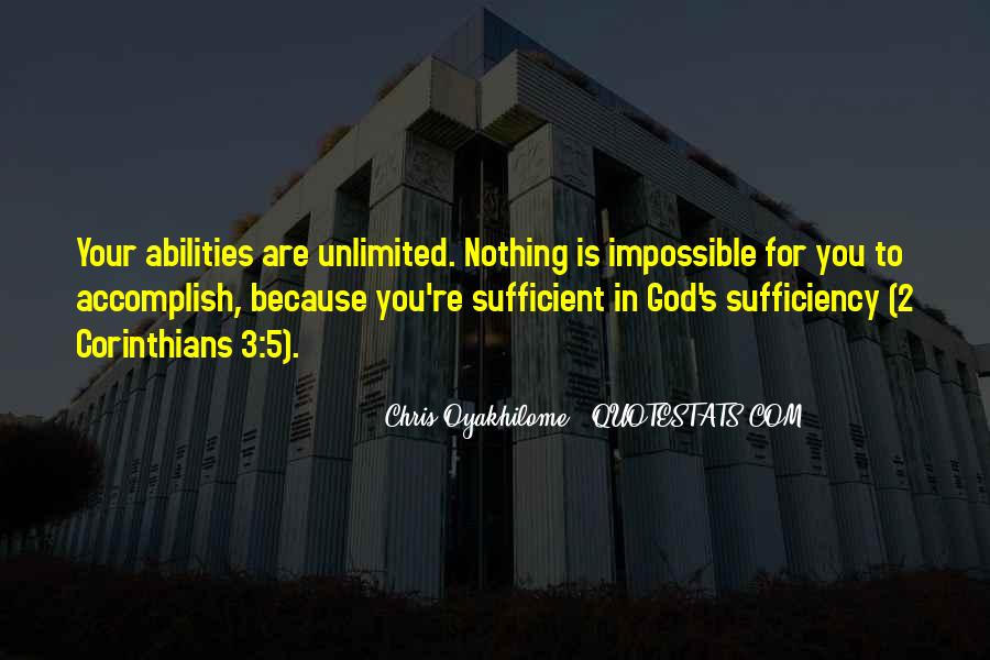 God Is Sufficient Quotes #1665230