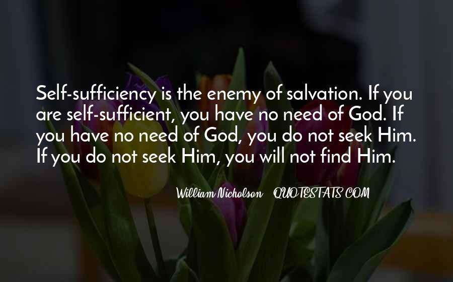 God Is Sufficient Quotes #1850019