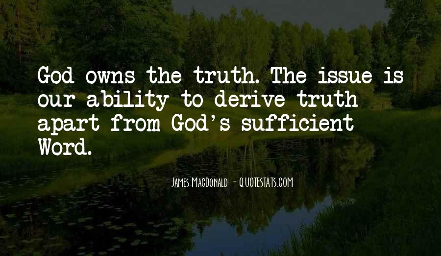 God Is Sufficient Quotes #979641